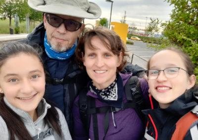 Andrea beim Familienausflug