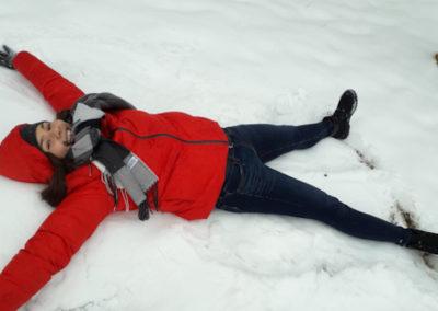 Begeisterung im Schnee