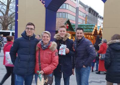 Weihnachtsmarkt mit der Gastfamilie